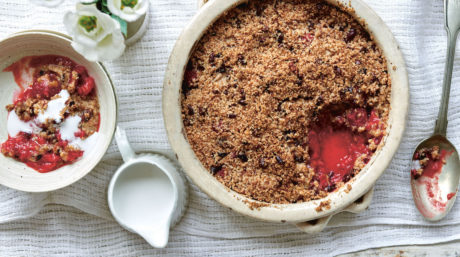Raspberry, Cacao Nib & Coconut Oil Crumble