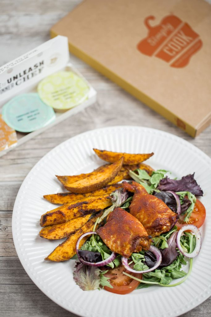 Simply Cook BBQ Tandoori Chicken with Sweet Potato Wedges