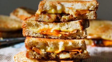 Pumpkin and Roasted Onion Vegan Toastie