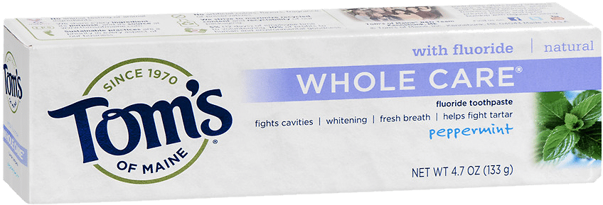 Tom's of Maine Whole Care Vegan Toothpaste with Fluoride