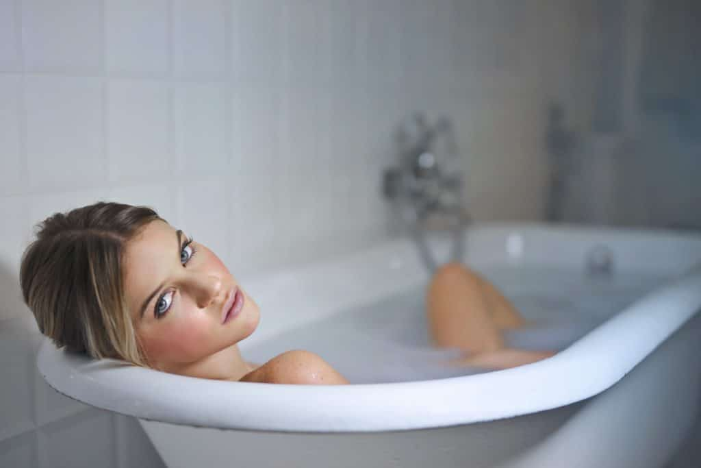 Relax and unwind in the bath.